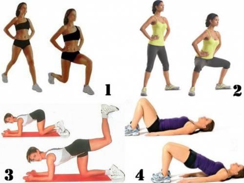 Эффективные упражнения для похудения бедер и ягодиц